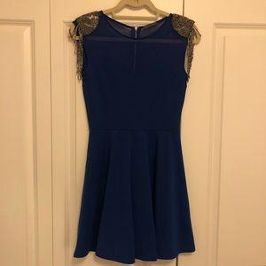 Soprano Dresses - Soprano - Royal Blue Beaded Cocktail Dress